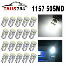 20pcs White 1157 50-SMD LED Replacement Bulbs for Car Interior RV Camper light