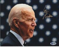 VICE PRESIDENT JOE BIDEN SIGNED 8X10 PHOTO AUTOGRAPH BECKETT BAS COA OBAMA A