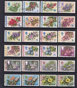 Bermuda - SG 249/65a - f/u - 1970/75 - Flowers