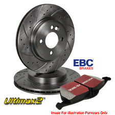 EBC BRAKE PADS & REAR DRILLED GROOVED DISCS VAUXHALL SIGNUM VECTRA