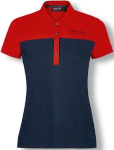 Red Bull Racing Damen Poloshirt Polohemd Blau Rot Gr. S