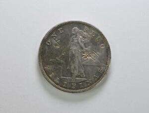 1903-S Philippines Silver Peso with China Chop Marks - No Reserve .99C Open Bid