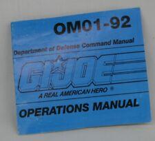"992 12"" GI Joe Hall Of Fame Snake Eyes v1 OPERATIONS MANUAL booklet OM01-92"