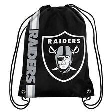 Oakland Raiders Official NFL Big Logo Drawstring Backpack Backsack Bag