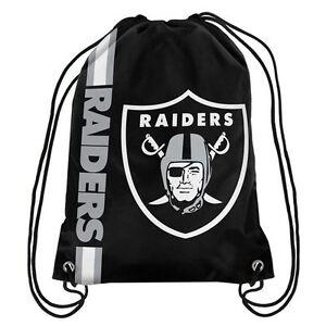 Las Vegas Raiders NFL Big Logo Drawstring Backpack Backsack Bag