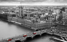 STUNNING LONDON CITYSCAPE CANVAS #307 HOUSES OF PARLIAMENT PICTURE WALL ART
