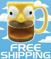 The Simpsons Homer Universal Studios Ceramic Coffee Cup Mug Cookie Holder NEW
