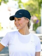 Nike Adult Metal Swoosh H86 Cap in Black with Strap and Buckle Clip