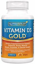 Nutrigold Vitamin D3 5000 IU, 360 Mini Softgels (GMO-free, Preservative-free,