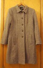 East 5th Women's Winter Coat 70% Wool Brown Black Beige Woven Lined X-Large Tall