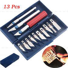1 Set/13Pcs Exacto Style Hobby Knife For Multi-Purpose Crafts Art Cutting Tool