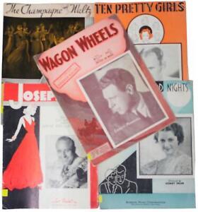 LOT Of 5 VTG 30s SHEET MUSIC BOOKLETS Song Books Sammy Kaye Wayne King + More !