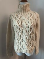 Pure DKNY Women's Wool Turtleneck Cable Knit Sweater Sz Petite Small S SOFT