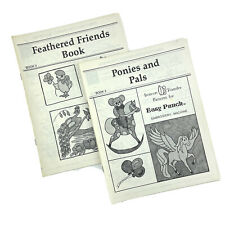 Easy Punch Feathered Friends Ponies and Pals Vintage Iron-Transfer Books