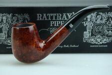 Rattray's Pfeife Marlin Shape 2 Bent 9mm Filter Glatt Braun #744