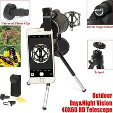 Outdoor Handheld 40x60 HD Monocular Camping Telescope W/Compass+Tripod+Clip USA