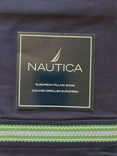 New Nautica Lakeview Navy Blue Green Euro Pillow Sham