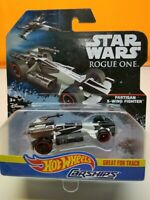 NEW DISNEY 2016 HOT WHEELS STAR WARS ROGUE ONE CarShips Partisan X-Wing Fighter
