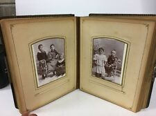Lot Of 45 Antique Cabinet Cards All In An Old Album All Sizes Book Filled Photos