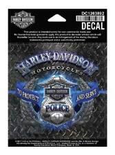 Harley-Davidson Police Original Decal, SM 4 x 4 inch, Blue & Silver DC1263892