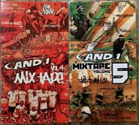 And 1 Mixtape Volume 4 & 5 VHS Lot Of 2 Hip Hop Basketball Rap