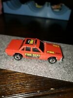 1983 Mattel Hot Wheels Crack Ups Fire Smasher Chief Fire Dept Car Hong Kong VTG