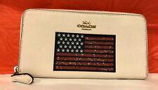 NEW Coach American Flag Accordion Zip Wallet F73608