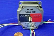 "Vexta Stepper Motor PK264-03B .250"" dual shaft, HQ, NEW attached Cable"
