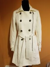 XOXO Womens White Fleece Outerwear Military Jacket Coat Juniors Size Medium