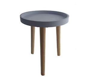 ✅ Tavolino Comodino Moderno Grigio/Beige Legno Massiccio Salotto Camera Letto