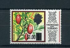 Trinidad & Tobago 2015 MNH Cocoa Industry OVPT 1v Set Plants Trees Stamps