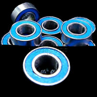 10PCS 4*8*3mm MR84RS MR84-2RS 4x8x3mm Rubber Sealed Ball Bearing Blue Bearings