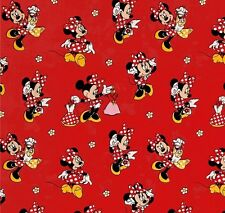 MINNIE MOUSE - Minnie Loves Dresses - Cotton - Fabric - Quilting- per 1/4 yard