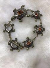 Heidi Daus Women Turtle Adjustable Bracelet Topaz & Swarovski Crystal