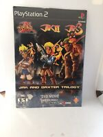 Jak and Daxter Limited Edition Complete Trilogy Movie DVD PS2 PREORDER,RARE,HTF