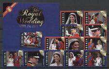 Kate, William, Royal Wedding - Liberia - ** MNH 2011