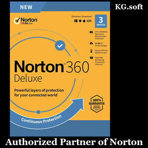 Norton 360 Deluxe for 3-device 1-year - product key code | Global worldwide use