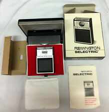 Coleccionistas Remington Selectric Afeitadora Eléctrica 1960s Nueva con caja escaso