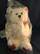 """Vintage Avon Talking Stuffed """"I Love You This Much Bear"""" New In Bag Red Hearts"""