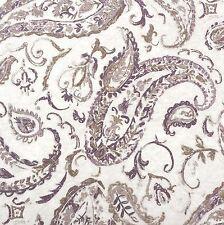 NOBLE EXCELLENCE Paisley Floral KING QUILT SET Purple Taupe Ivory 100% COTTON
