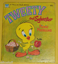 Tweety & Sylvester Picnic Problems 1970 Tell-A-Tale book Great Pictures! SEE!