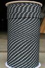"""NovaTech XLE Halyard Sheet Line, Dacron Sailboat Rope 3/16"""" x 200' Black/White"""
