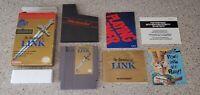 Zelda II 2 ii The Adventure of Link Gray Grey NES Nintendo CIB Box Complete lot!