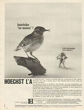 """Publicité Advertising 1965  HOECHST L'A  insecticides """"sur mesures"""""""