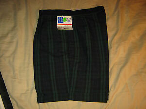 Royal Park School Uniform Shorts Girls 12 H, Pleated front, Regular fit Plaid 79