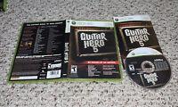 Guitar Hero 5 (Microsoft Xbox 360, 2009) Complete