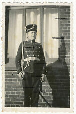 Portrait Soldat siehe Säbel alte Uniform Foto Militär