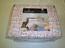NIP CuddlDuds Pink Kitty Cats Twin Sheet Set 100% Cotton heavyweight flannel