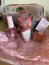 Ted Baker Make Up Bag with Lip Balm, Hand Cream & Body Spray - new with tags