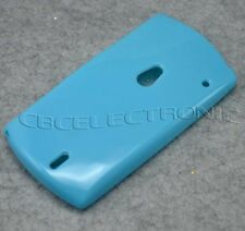 New Light Blue Soft Rubber case cover for Sonyericsson MT15i Xperia Neo MT11i